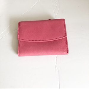 Rolfs pink leather wallet